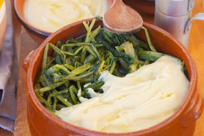 Chicory and broad bean puree, typical from south of Italy